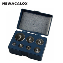 NEWACALOX 7pcs/set Calibration 500g Grams Precision Calibration Jewelry Scale Weights Correction Set 200g 100g 50g 20g 10g