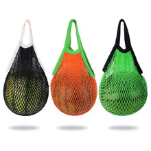 2018 New Mesh Net Turtle Bag String Shopping pack Reusable Fruit Storage Handbag Totes New Fashion Storage Bag High Quality(China)