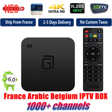 S905 Best Quad Core Android TV Box with 1 Year 1000+ Arabic French Belgium IPTV code LiveTV Channel iptv free smart tv box(China)