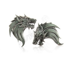 Personalized! Auto Car Truck Motor 3D Wolf Head Logo Prime Front Grille Emblem Gray Badge Sticker Decal Metal 3M Adhesive Tape