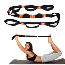 Yoga Stretch Strap Elasticity Yoga Strap with Multiple Grip Loops Hot Yoga Physical Therapy Greater Flexibility(China)