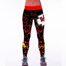 New American Football Leggings For Women Ladies 3D Print Chiefs Sports Legging Legins Sexy Fitness Running Pants(China)