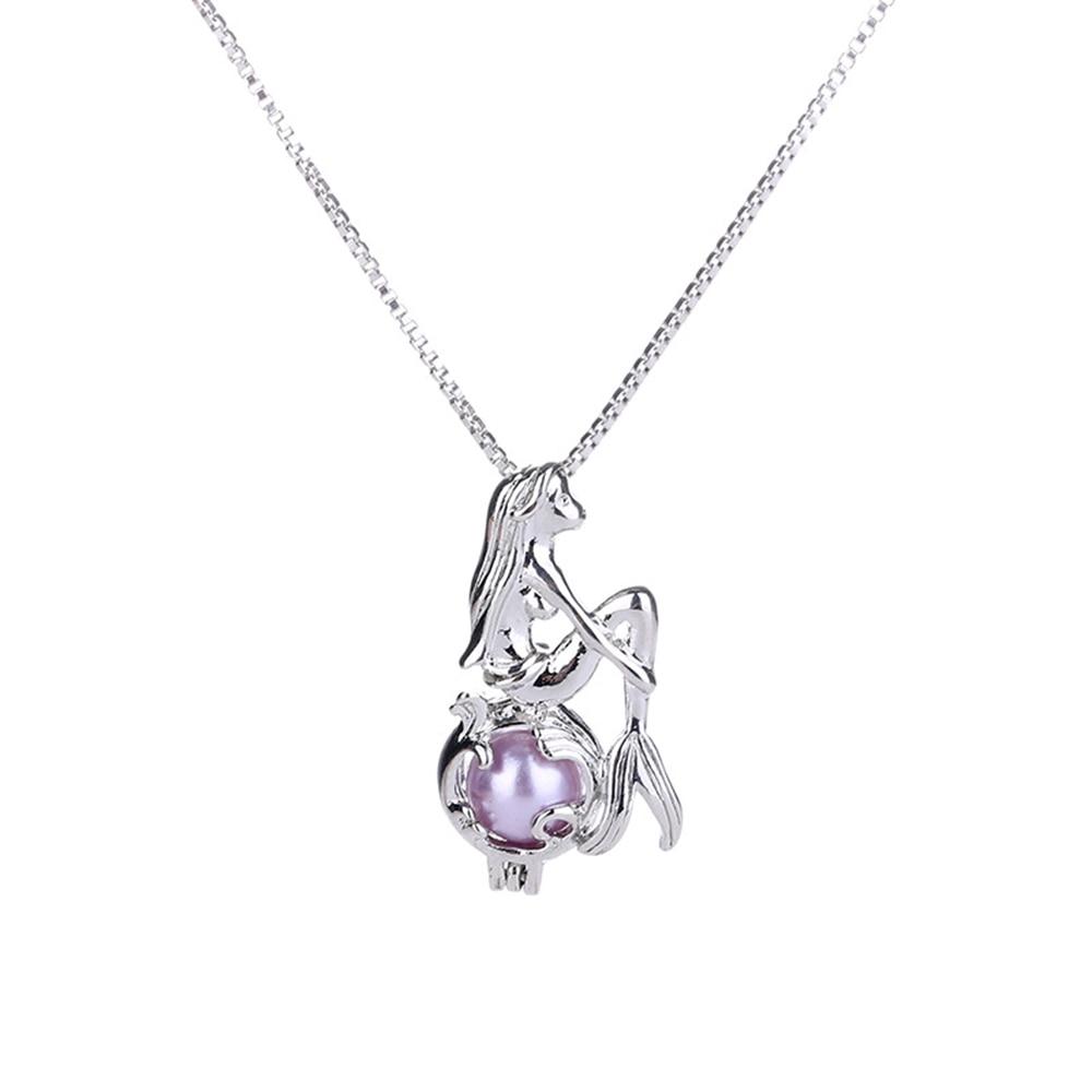 Beautiful  Unique Design Mermaid Pearl Cage Pendant Necklace