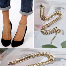 Tomtosh Summer Fashion Fishbone Chain Anklets Bracelet Foot Jewelry Body Jewelry For Women Gifts Free Shipping