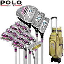 Golf Brand POLO. 11 pieces Ladies golf clubs women golf irons clubs complete full set(China)