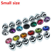Buy Metal Small Size Anal Sex Toys Women Men,Stainless Steel Anal Butt Plugs + Crystal Jewelry Anus Beads Buttplug Sex Products