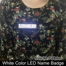2017 Promotion 44x11 Dots White Color Huidu Led Name Board / Badge Sign ,rechargeable Business Name Card Led Message Tag(China)