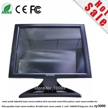 new stock cheapest  wholesale 4 units/lot  15  Inch usb Touch Lcd Monitor VGA DVI input DC12V For POS system