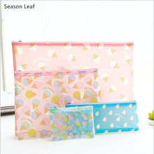Sweet Candy Ice Cream A4 A5 Mini Mesh Bag File Document Bag PVC File Folder Stationery Filing Production School Office Supply