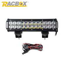 RACBOX 12inch 72W  LED Work Drive Light Lamp Bar Combo Offroad Light 12V For ATV SUV 4WD 4X4 Boating Truck Tractor CREE Chips