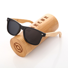 BARCUR Wood Sunglasses Spring Hinge Handmade Bamboo Sunglasses Men Wooden Sun glasses Women Polarized Oculos de sol masculino(China)