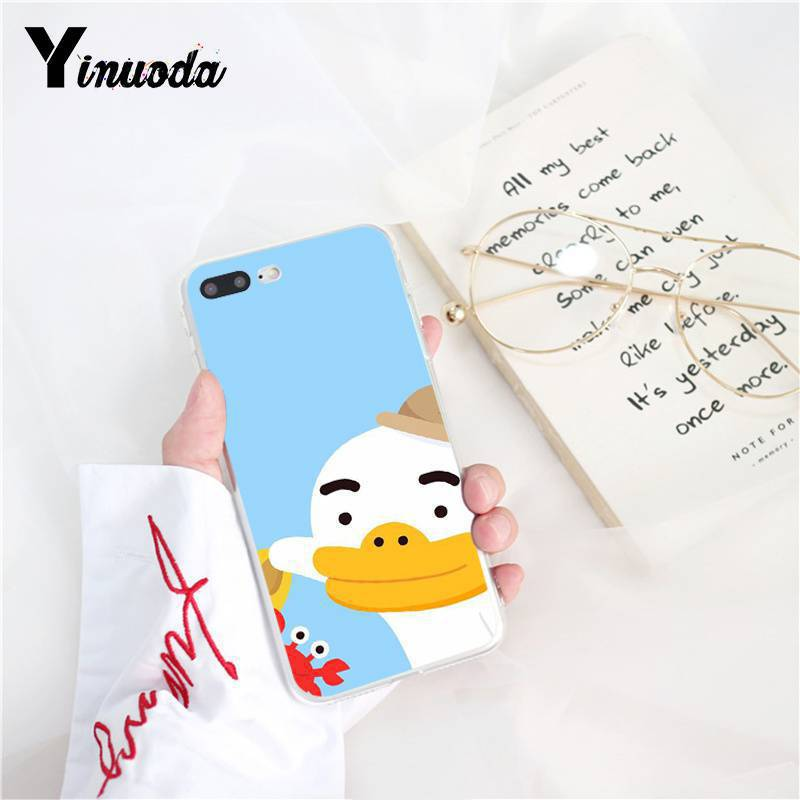 Cartoon yellow white cute duck