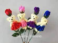 1pcs Teddy Bear Rose Flower For wedding party Birthday Party Children's Day Gift Valentine's day Gifts