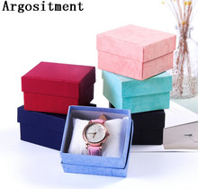 Argositment 12pcs 8.5*8*5.5cm Watch Paper Gift Box Wristwatch Box With Pillow Best For Gift Package