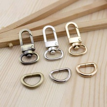 LXK-01 Bronze Bag Parts & Accessories Luggage bag buckle Snap hook/Dog,Bag hanger Lobster Clasp D ring 12 mm diameter 10set/lot
