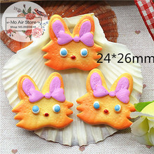 Cute cat cookies 10PCS 24x26mm Resin Flatback Cabochon Miniature Food Art Supply Decoration Charm Craft DIY free shipping