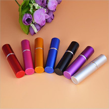7 Colors 5CC smooth Aluminium perfume bottle 5ml Refillable Perfume Atomizer Travel bottles fragrance glass Spray bottles