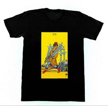 The Seven of Swords T37 T Shirt Ryder Tarot Card Fortune Occult Witchcraft Men T-Shirt Great Quality Funny Man Cotton