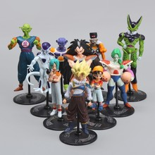 10pcs/set Dragon Ball Z GT Action figures Crazy Party 5-10cm Cell/Goku PVC DragonBall Figures Toys collection