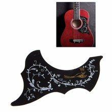 Hot Sell Acoustic Guitar Pickguard Golden Hummingbird Scratch Plate Pickguard Black(China)