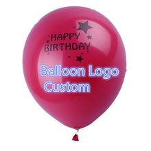 100pcs/lot 10inch 2.8g Advertising balloon printing custom Customizable pearl and matte latex balloon for birthday party