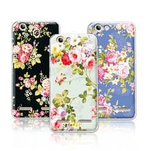 Buy Floral Painted Colorful Phone Cases Lenovo Vibe K5 K5 Plus Lemon 3 5.0'' A6020 Cover Case Lenovo K5 A6020+Free Gift for $1.35 in AliExpress store