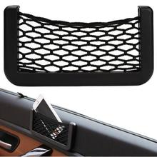 Car Trunk Organizer Nets Bag 15X8cm Automotive Pockets With Adhesive Visor Bag Storage for Mobile phone PDA mp3 Car Styling