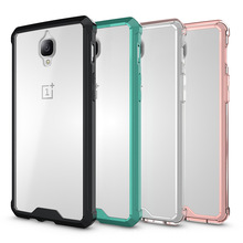 For Oneplus 3 Cases Transparent Armor Back Cover For Oneplus 3T Case Acrylic Airbag For Oneplus3 3T Case 5.5 Cellular