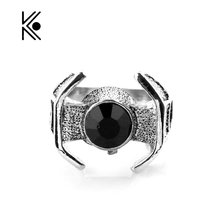 Star Wars Ring Charm Soldier Darth Vader's Spacecraft Shape Ring Rings Men Fashion Movie Jewelry Movie Jewelry Drop Shipping
