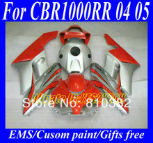 Injection Mold Fairing kit for HONDA CBR1000RR 04 05 CBR1000 CBR 1000RR 2004 2005 red silver ABS Fairings set +7gifts ZD30
