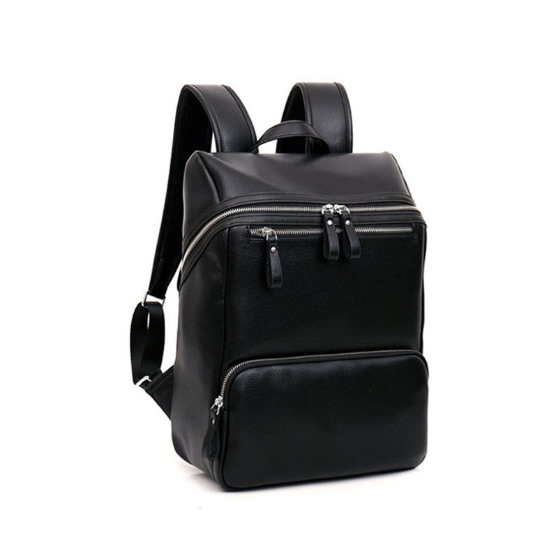 Spring and autumn new Korean trend men backpack leather men male computer package fashion leisure business backpack<br>
