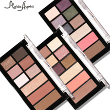 MARIA AYORA 9 colors Eyeshadow Palette Matte&Shimmer Smoky Eye Shadow Palette Eyeshadow Makeup Kit Set Eye Makeup Beauty
