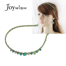 Joywish 2017 New Hairwear Summer Style Blue Green Red Color Elastic Hairband Women Fashion Hair Accessories