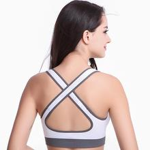 Women Yoga Shirts Sexy Sports Top Style Fitness Crop Top Solid Running Shirt Sport Gym Clothes Tank Tops Sportswear(China)
