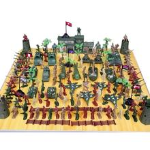146pcs/set Multi-colored mini military equipment plastic soldier model toys for boy best gift for kids