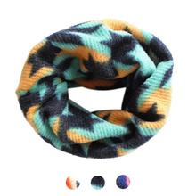 Cheapest! Winter Kids Baby Cartoon Scarf Thicken Cotton O Ring Neck Warmer 50*25cm Children neck Scarves Wholesale