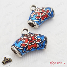 (29709)6PCS 19*14MM,hole 3MM Zinc Alloy Oil Paintings Charms Connector Diy Jewelry Findings Accessories Wholesale