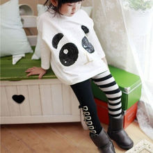 1PCS 3-7Y Kids Toddler Baby Boy Girl Clothes Classical Black White Leggings Pants Trousers Bottom Leggings 100/110/120/130/140cm