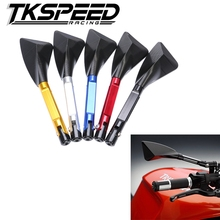 FREE SHIPPING TKSPEED - Aluminum  motorcycle rearview Side mirror For honda yamaha Kawasaki z750 Suzuki Ducati