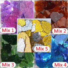 150g Glass Cullet Broken Glass Colored Safety Glass,green Red Blue Coffee Orange Mix Glass Pieces(China)