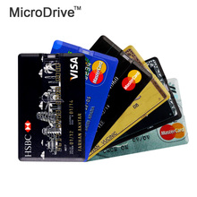 Credit card USB Flash Drive Pen Drive Pendrive 32GB 16GB Flash Drive 8GB  64GB Memory Stick Drives