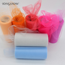 Buy 15cm 25Yards Tulle Roll Tutu Skirt Pom DIY Table Runner Tissue Tulle Roll Spool Wedding Decoration Organza Sheer Gauze C01-C33 for $2.08 in AliExpress store