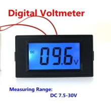 1pcs Digital Voltmeter DC 7.5-30V Car Motorcycle Battery Monitors Volt Voltage Meter LCD Display