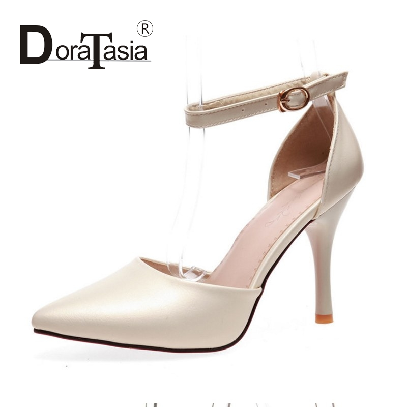 DoraTasia New Small Big Size 32-43 Thin High Heels Women Pumps Ankle Strap Two Piece Party Shoes Wedding Shoes Woman<br><br>Aliexpress