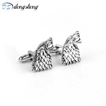 Buy dongsheng Fashion Vintage Movie Game Thrones Stark Cufflinks Men Shirts CuffLinks Wedding Party Luxury Men Cufflinks -40 for $1.12 in AliExpress store