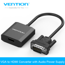 Vention VGA to HDMI Converter Cable Adapter with Audio 1080P VGA HDMI Adapter for PC Laptop to HDTV Projector(China)