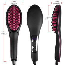 450F Hair Straightener Brush Comb 110V-220V LCD Digital Display Dual Voltage Electric Flat Iron for Straightening Hair Iron