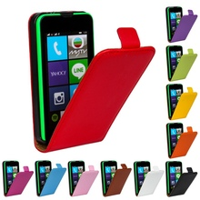 530 N530 Good Quality Cow Split Genuine Leather Case Vertical Flip Cover For Microsoft Nokia Lumia 530 N530 Phone Case