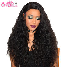 Mshere Hair Malaysian Water Wave Non Remy Hair Extentions Natural Black 100% Human Hair Weave Bundles Can Be Dyed And Bleached