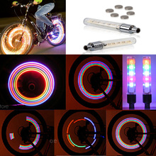 2pcs Bike Bicycle Cycling Car Tyre Wheel Neon Valve Firefly Spoke LED Light Lamp 5 LED Colorful Light Lamp(China)